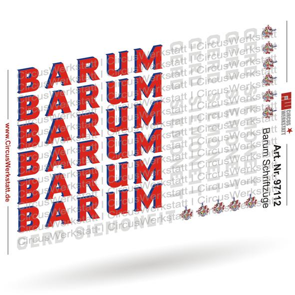 BARUM Schriftzüge - Decal/ Nassschieber Set 1:87