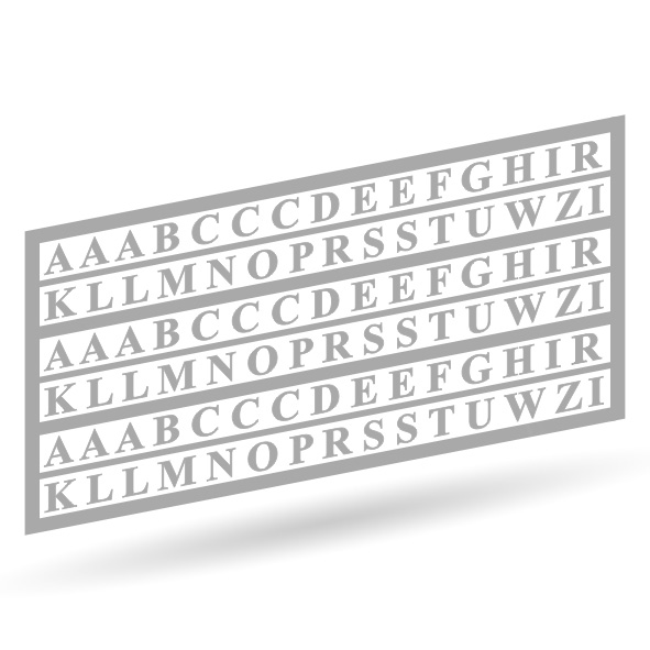 Filigrane Buchstaben - Unlackiert 1:87