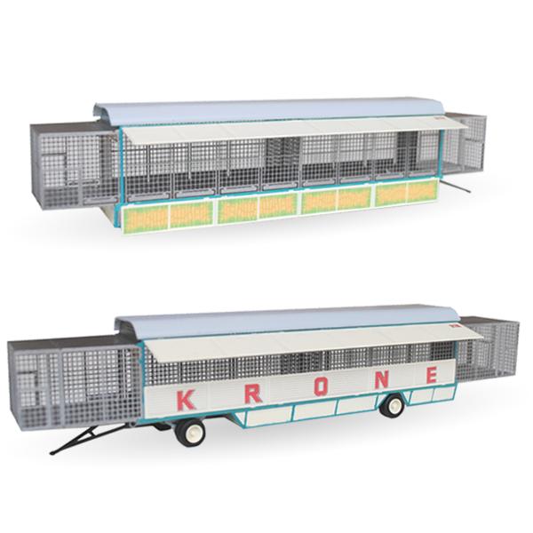 Circus Krone Käfigwagen Set Nr. 217 & 218 - Bausatz 1:87