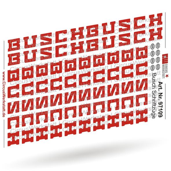 BUSCH Schriftzüge Version 1 - Decal/ Nassschieber Set 1:87