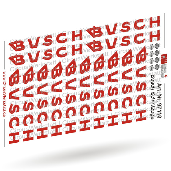 BUSCH Schriftzüge Version 2 - Decal/ Nassschieber Set 1:87