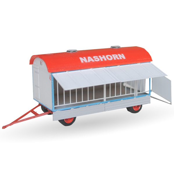 Circus Barum Nashornwagen - Bausatz 1:87
