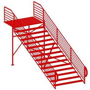 Circus Roncalli Zelt-Treppen - 2er Set - Bausatz 1:87