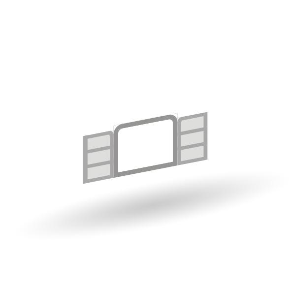 Nostalgie Fenster - 4er Set - Unlackiert 1:87