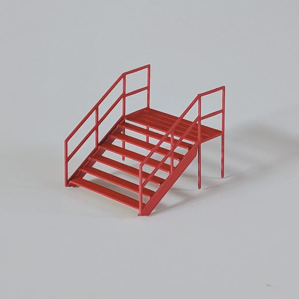 Zelt-Treppen - 2er Set - Bausatz 1:87