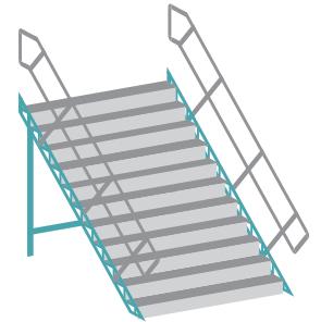 Circus Krone Zelt-Treppen - 2er Set - Bausatz 1:87