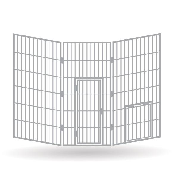 Raubtiergehege Set 2 - Zentralkäfig - Bausatz 1:87