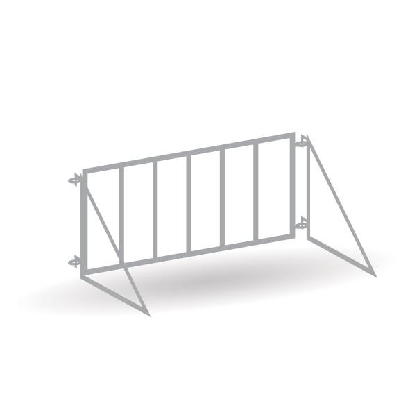 Nilpferd Gehege Zaun - 12er Set mit Rampe - Bausatz 1:87