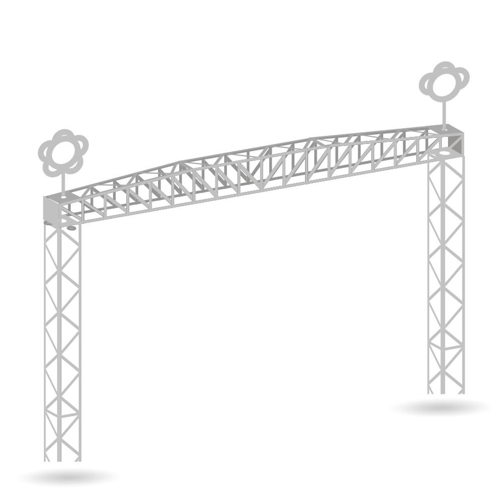 Gittermasten - 2er Set - Bausatz 1:87