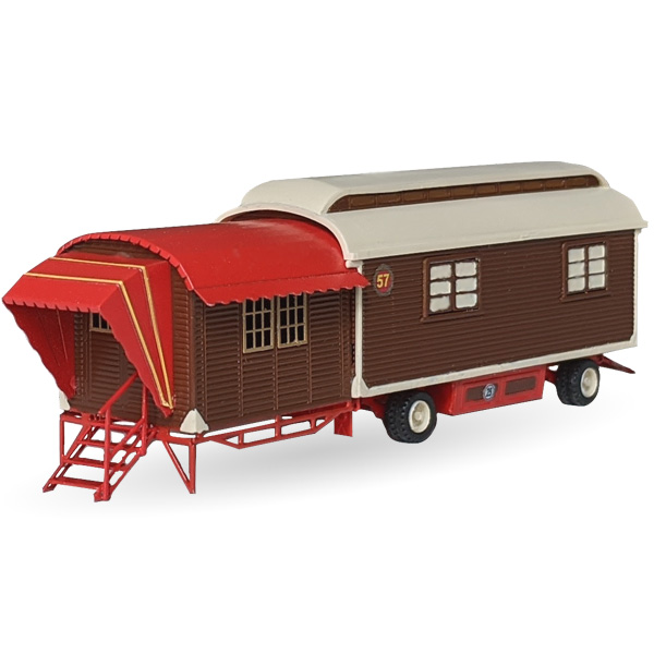 Circus Roncalli Wohnwagen mit Veranda Nr. 57 -  Bausatz 1:87