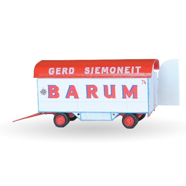 Circus Barum Gradinwagen - Bausatz 1:87
