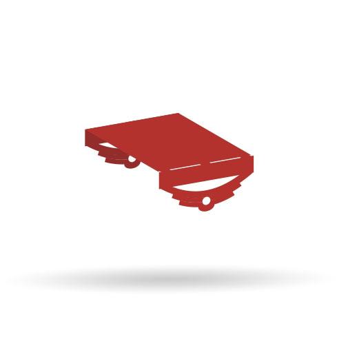 Einfaches Fahrgestell - 5er Set - Bausatz 1:87