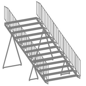 Circus Barum Zelt-Treppen - 2er Set - Bausatz 1:87