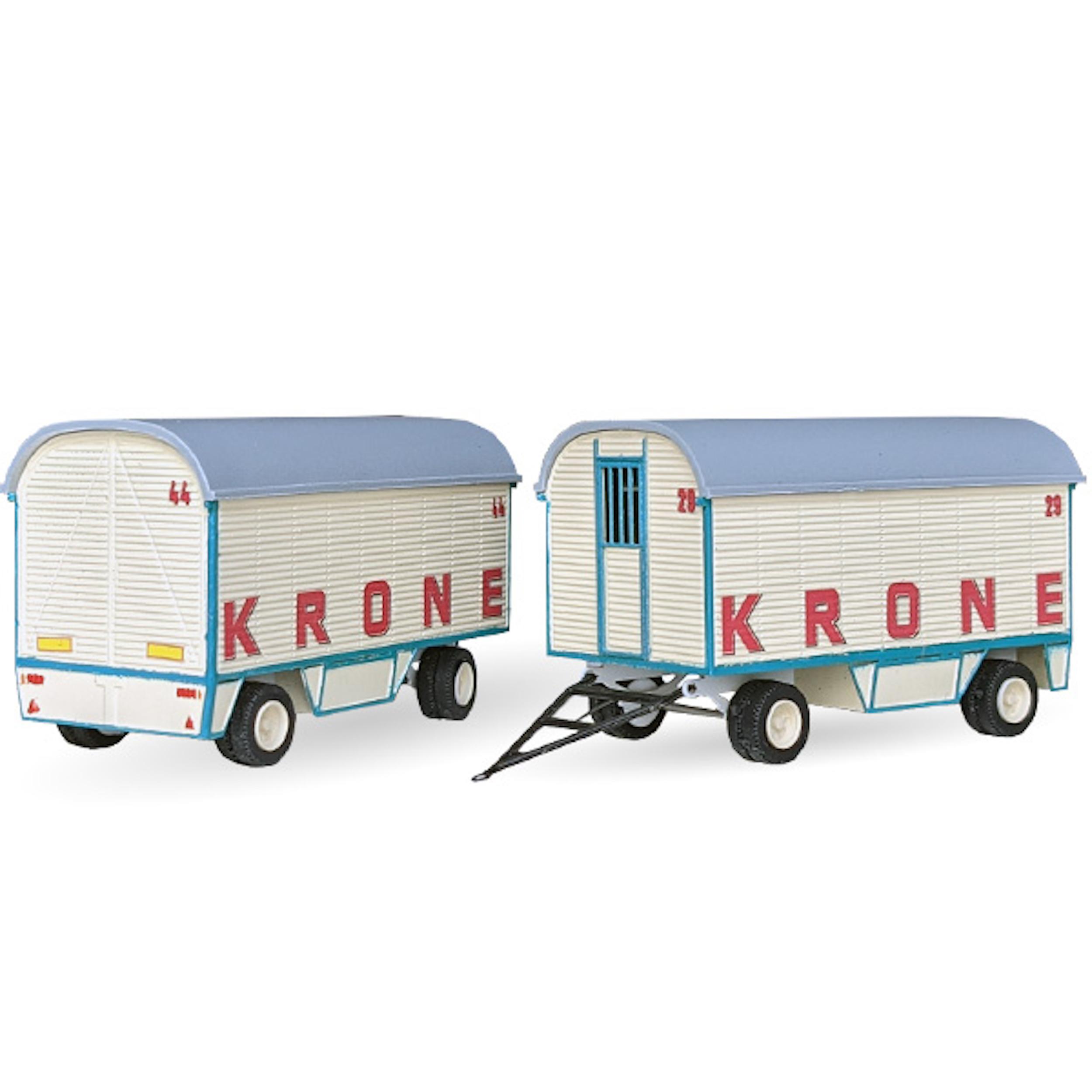 Circus Krone Gradinwagen - 2er Set - Bausatz 1:87
